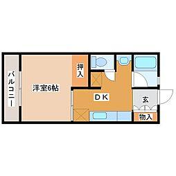 レジデンスヨシムラ佐賀I[4階]の間取り