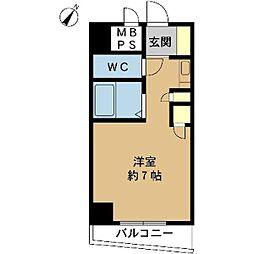 ロマネスク姫島[408号室]の間取り