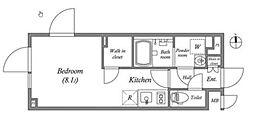 東京メトロ丸ノ内線 四谷三丁目駅 徒歩5分の賃貸マンション 2階ワンルームの間取り