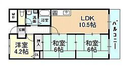 メゾン・ドュ・ポルテマイヨ[2階]の間取り