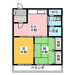 ネギシマンション[2階]の間取り