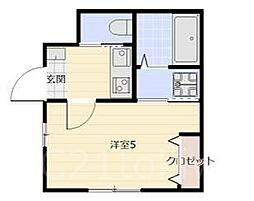 ベルクレール[1階]の間取り