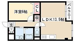 愛知県日進市竹の山3丁目の賃貸マンションの間取り