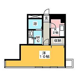 Studio Flat[2階]の間取り