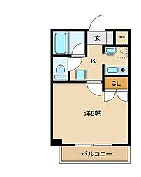 フォレストヴィラ松戸中央[3階]の間取り