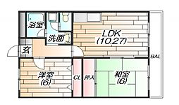 エステートみずほ[2階]の間取り