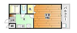 ベルメゾン2号館[2階]の間取り