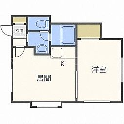 北海道札幌市白石区菊水三条4丁目の賃貸アパートの間取り