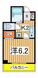 G・MウエストハイツA[5階]の間取り