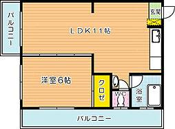 田中酒販ビル[301号室]の間取り