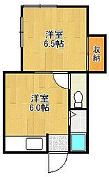 サンガ文化[2階]の間取り