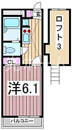 レオパレス山葵[3階]の間取り
