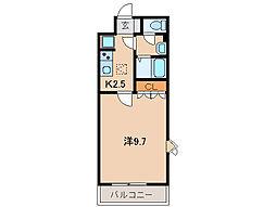 シャランテ橘II[1階]の間取り