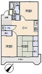 愛知県岡崎市美合新町の賃貸マンションの間取り