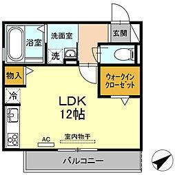 (仮)D−room道光寺町西縄[3階]の間取り