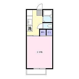 ヴィラ円城寺B[101号室]の間取り