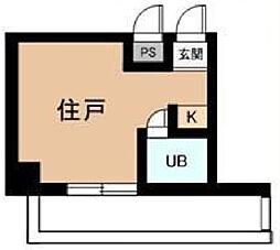 神奈川県大和市中央1丁目の賃貸マンションの間取り