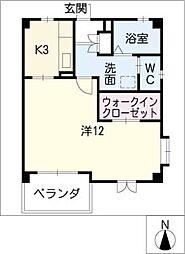 秀乃郷[1階]の間取り