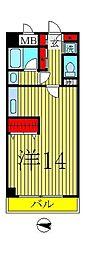 オアシス2000[2階]の間取り