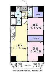 東京メトロ日比谷線 三ノ輪駅 徒歩4分の賃貸マンション 9階2LDKの間取り