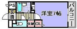 プランドールマサキ[415号室]の間取り