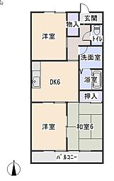マンション稲穂[3階]の間取り
