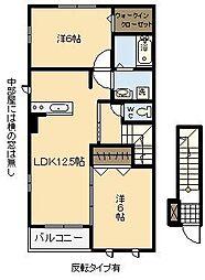 ドウェル・コンチェルト Ⅱ[2階]の間取り