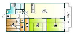LiAnge 北六甲[2階]の間取り