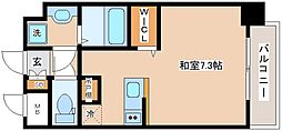 JR山陽本線 新長田駅 徒歩2分の賃貸マンション 10階ワンルームの間取り