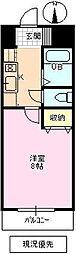 長野県長野市中越1丁目の賃貸マンションの間取り