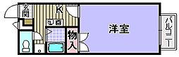 プレジール助松[208号室]の間取り