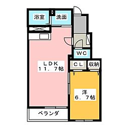 愛知県名古屋市緑区大高町字伊賀殿丁目の賃貸アパートの間取り