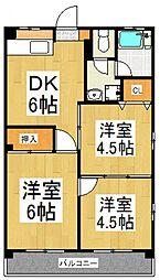 野崎マンション[1階]の間取り