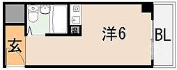 ブランデール長田[205号室]の間取り