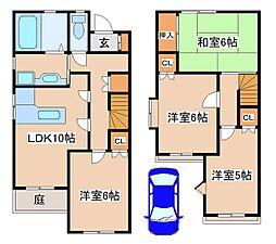 [タウンハウス] 兵庫県神戸市西区池上2丁目 の賃貸【兵庫県 / 神戸市西区】の間取り