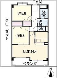 プラムコート[3階]の間取り