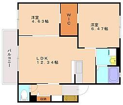 ディアスフォッセ[1階]の間取り