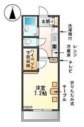 愛知県名古屋市熱田区古新町2丁目の賃貸マンションの間取り
