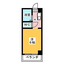 ドール津賀田[4階]の間取り