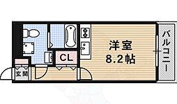 大阪モノレール彩都線 豊川駅 徒歩7分の賃貸マンション 1階ワンルームの間取り