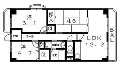 モンテ21[104号室号室]の間取り