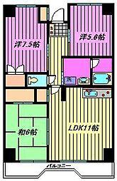砂サンシャインシティ3番館[8階]の間取り