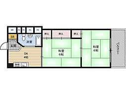新大阪第2ダイヤモンドマンション[5階]の間取り