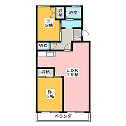 カナヤハイツII[3階]の間取り