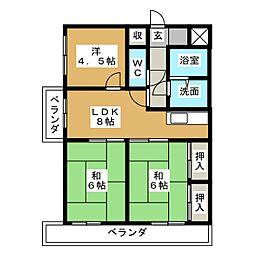 扶桑ハイツI[11階]の間取り