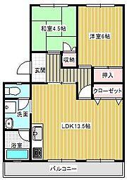 旭前ハイツF棟207号[1号室]の間取り