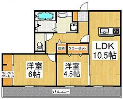 ディアマンテ弐番館[3階]の間取り