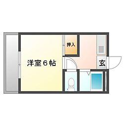 サニーヒルズ泉田II[4階]の間取り