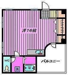 サンルビーASAHI[102号室]の間取り