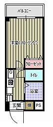 マインズ東三田[303号室]の間取り